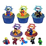 48 Lego Movie Cupcake Toppers & 24 Picks & 50 Baking Cups Set