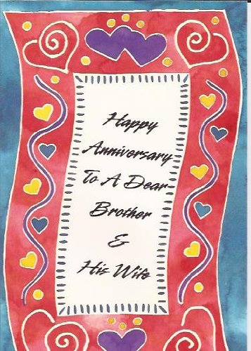 Anniversary Brother Sister Congratulations P.S.