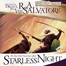 Starless Night: Legend of Drizzt: Legacy of the Drow, Book 2 (       UNABRIDGED) by R. A. Salvatore Narrated by Victor Bevine
