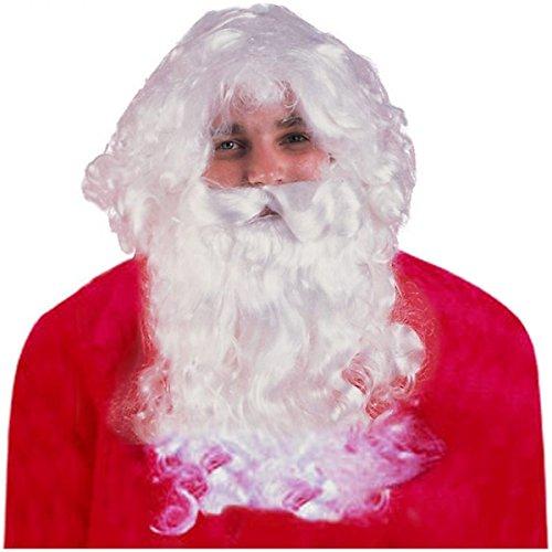 GSG Santa Beard and Wig Set Adult Mens Christmas Costume Fancy Dress (Child Santa Wig And Beard)