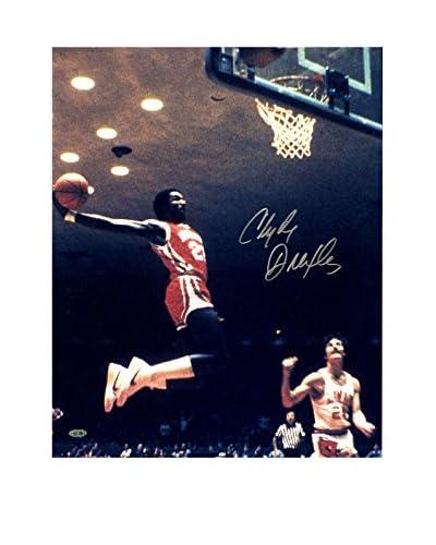 Steiner Sports Memorabilia Clyde Drexler Signed Air Dunk Photo, Multi, 20 x 16