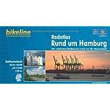 Rund um Hamburg, Radatlas: Die schönsten Radtouren rund um die Hansestadt 1 : 75 000, wetterfest/reißfest