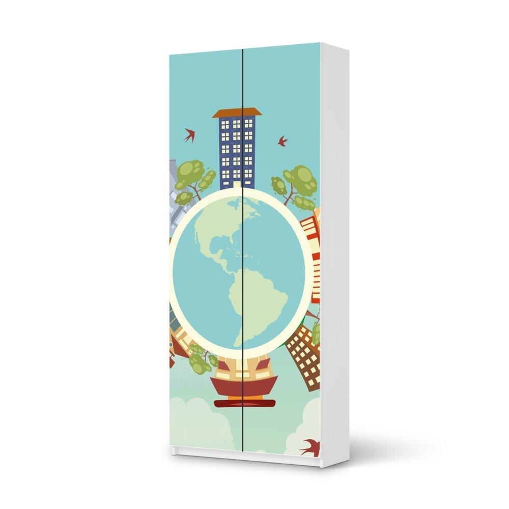 Folie IKEA Pax Schrank 236 cm Höhe – 2 Türen / Design Aufkleber Planetastic / Dekorationselement online kaufen