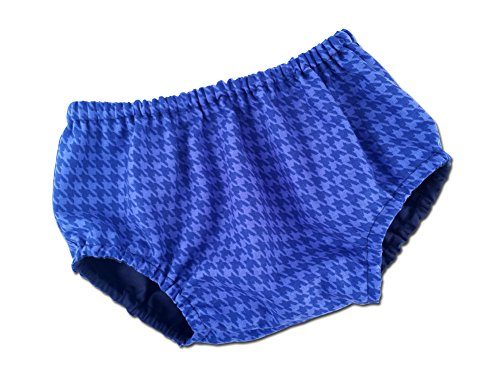 Juxby Kids Baby-Boys Blue Houndstooth Diaper Cover-12To24M