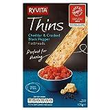 Ryvita Cheddar & Black Pepper Thins 125g