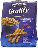 Gratify Gluten Free Pretzel Sticks, Sea Salt, 8 Ounce (Pack of 6)