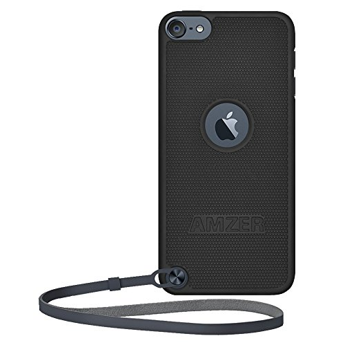 Amzer Snap On Hard Shell Case Cover for Apple iPod Touch 5G rubberized hard shell case w ribbed design holster