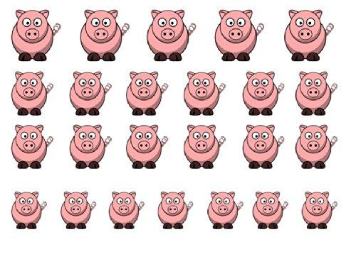 Facile a utiliser d'art d'ongle transfert autocollants Pig / Porc