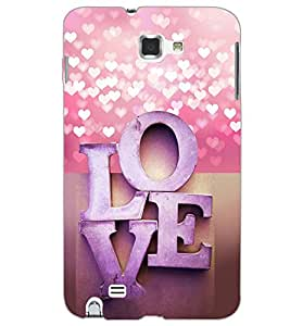 SAMSUNG GALAXY NOTE 1 LOVE Back Cover by PRINTSWAG