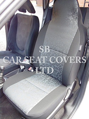 to-fit-a-perodua-viva-car-seat-covers-grey-retro-cloth-fabric-2-fronts