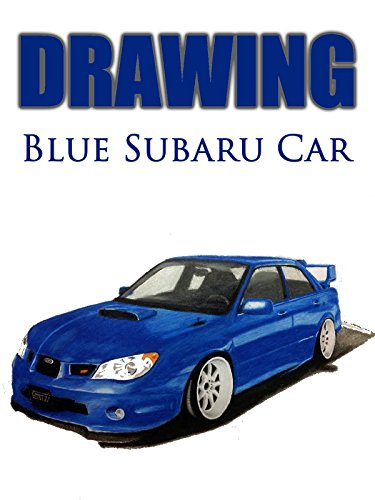 Clip: Drawing Blue Subaru Car