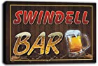 scw3-006575 SWINDELL Name Home Bar Pub Beer Stretched Canvas Print Sign