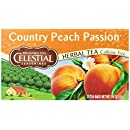 Celestial Seasonings Herb Tea, Country Peach Passion, 20-Count Tea Bags (Pack of 6)