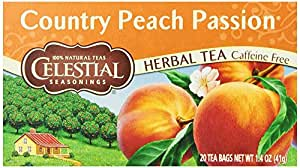 Celestial Seasonings Country Peach Passion Tea, 20 Count (Pack of 6)