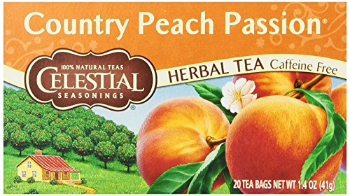 Celestial Seasonings Herb Tea, Country Peach Passion, 20-Count Tea Bags