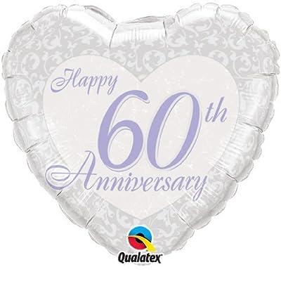"Happy 60th Diamond Wedding Anniversary 18"" Qualatex Foil Balloon"