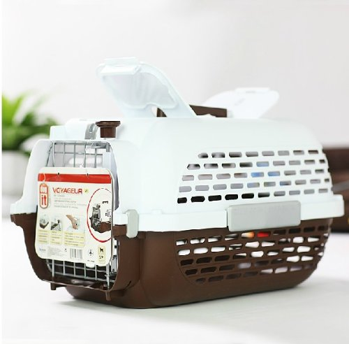 Air Box Pet Supplies Dog Cage Outside Came Out (Brown)
