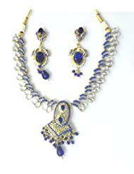 RCJ Gold Brass Necklace Set For Women - B00XN84A0C
