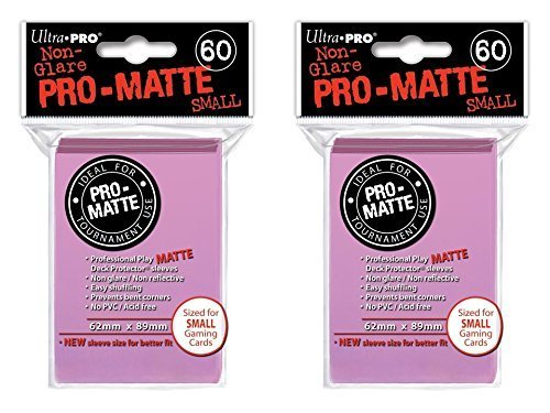 120 Ultra Pro Pink SMALL PRO-MATTE Deck Protectors Sleeves Colors Yugioh Vanguard [2 Packs of 60]