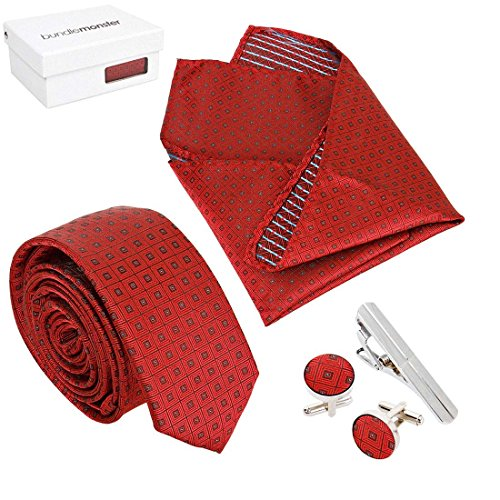 Bundle Monster Mens Fashion Accessory Combo Kit - Red Squares (Red Monster compare prices)
