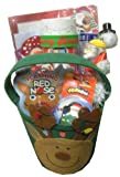 Reindeer Holiday/Christmas Gift Basket- Perfect for Christmas or Other Special Occassions