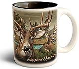 Wildlife Collage Series 15oz Stoneware Coffee Mug (Whitetail Deer)