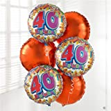 Margaret Emms 40th Birthday Balloon Bouquet