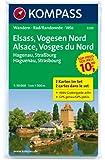 Elsass - Vogesen Nord - Alsace - Vosges du Nord: Wanderkarten-Set mit Aktiv Guide. GPS-genau. 1:50000