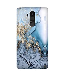 Marble Gold Printed Back Cover Case For LG G4
