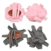 2 Pairs Infant Baby Newborn Cotton Barefoot Petals Flower Sandals Shoes Socks