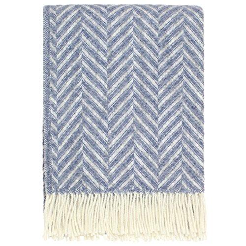 plaid-en-laine-chevron-bleu-100-pure-laine-vierge
