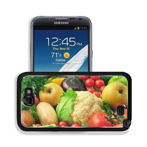 Vegetables Fruits Mixture Healthy Food Samsung Galaxy Note 2 Snap Cover Premium Aluminium Design Back Plate Case Customized Made To Order Support Ready 6 Inch (152Mm) X 3 2/8 Inch (82Mm) X 4/8 Inch (13Mm) Msd Galaxy Note 2 Professional Metal Cases Touch A front-955667