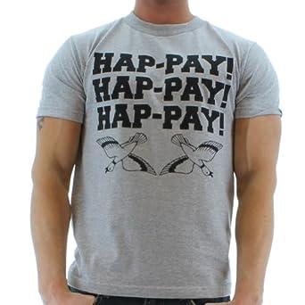 Men's Hap-Pay Hap-Pay Happy Duck Commander Duck Dynasty T-Shirt Tee Gray Size S