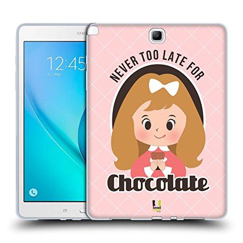 Head Case Designs Never Too Late For Chocolate Pubblicità Vintage Serie 2 Cover Morbida In Gel Per Samsung Galaxy Tab A 9.7