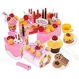 RISACCA ザックリ 切れる おままごと かわいい ケーキ屋さん ごっこ セット + 収納袋  / デザート パティシエ お誕生日会 バースデー パーティー 知育玩具