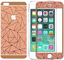 Relax And Shop 3D Diamond Mirror Front + Back Tempered Glass Screen Protector For Iphone 4S - Rose Gold
