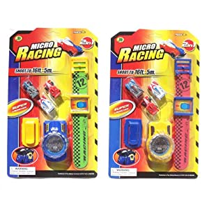  Mini Race Cars Pair of Micro Car Racing Toy Set with Super Launcher