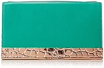 Ted Baker Chain Strap Box Clutch,Green,One Size