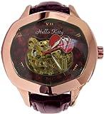 時計仕掛けのHELLO KITTY/ドイツ製限定 腕時計 〜自動巻き/日本製ムーブメント 500個限定 AEKT-1 レディース