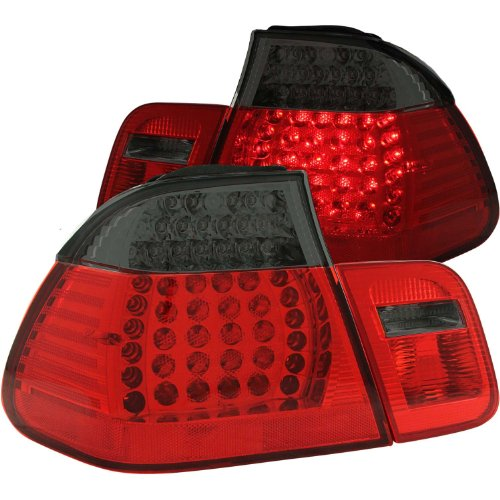 Anzo Usa 321126 Bmw 323I Led Red/Smoke Led Tail Light Assembly - (Sold In Pairs)