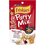 Purina Friskies Party Mix Mixed Grill Crunch Cat Treats - (10) 2.1 Oz. Pouches