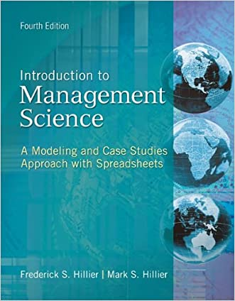 MP Introduction to Management Science with Student CD and Crystal Ball passcode card (The Mcgraw-Hill/Irwin Series Operations and Decision Sciences)