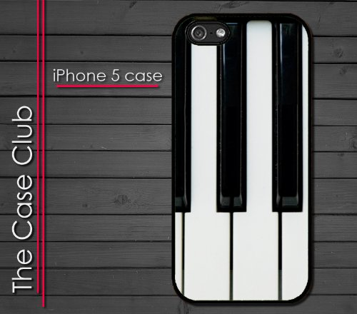 Iphone 5 Rubber Silicone Case - Piano Keys 88 Keys Pianist Piano Player Keyboard