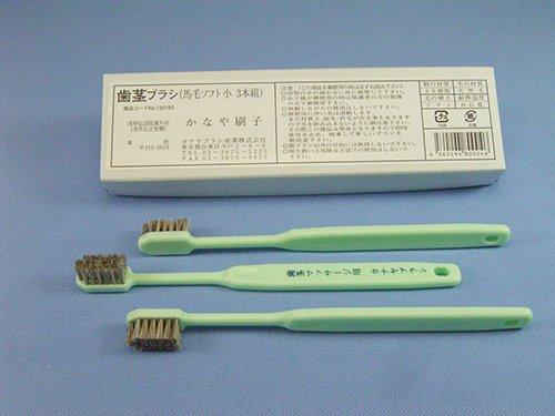 馬毛歯茎ブラシ 絶品 カナヤブラシ製品 毛質:超ソフト