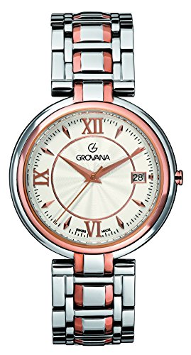 GROVANA - 2097.1152 - Montre Mixte - Quartz Analogique - Bracelet Acier Inoxydable Bicolore