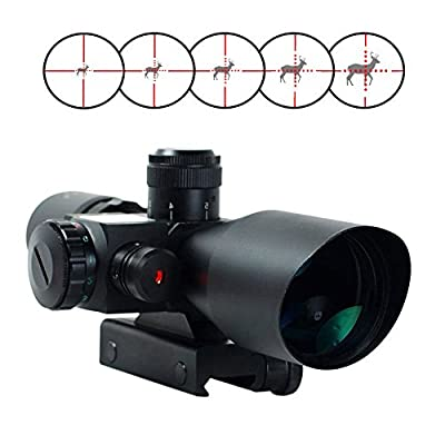 Freehawk® 2.5-10x40 Tactical/Optics Accessories/ Rifle Scope/Gun Scope/Gun sights Red & Green Laser Dual Illuminated Mil-dot with Rail Mount