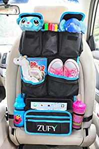 Backseat Organizer with a FREE Tire Pressure Gauge and an Ebook for Back of Seat Car Storage Organizer.