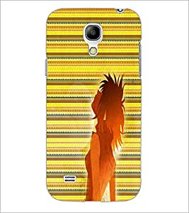 PrintDhaba Girl Impression D-2997 Back Case Cover for SAMSUNG GALAXY S4 MINI (Multi-Coloured)