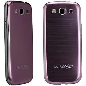 xubix Full Metal Akkudeckel für Samsung i9300 Galaxy S3 Pink brushed Metall Aluminium mit dezent weißem Rand