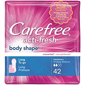 CAREFREE® ACTI-FRESH® Pantiliners Long To Go Unscented 8/42ct